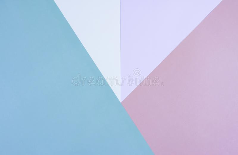 Flat lay of pastel papers background. stock photos