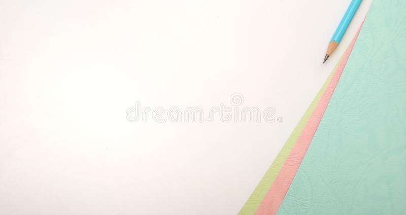 Flat Lay, White Pink Blue Photo Blank Template for Background Element Design for message, quote, information text placement with. White Pink Blue Photo Blank royalty free stock photography