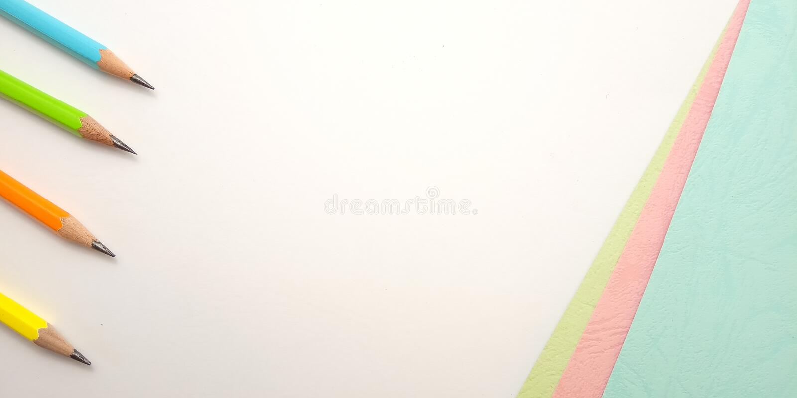 White Pink Blue Photo Blank Template for Background Element Design for message, quote, information text placement with. Flat Lay, White Pink Blue Photo Blank stock images