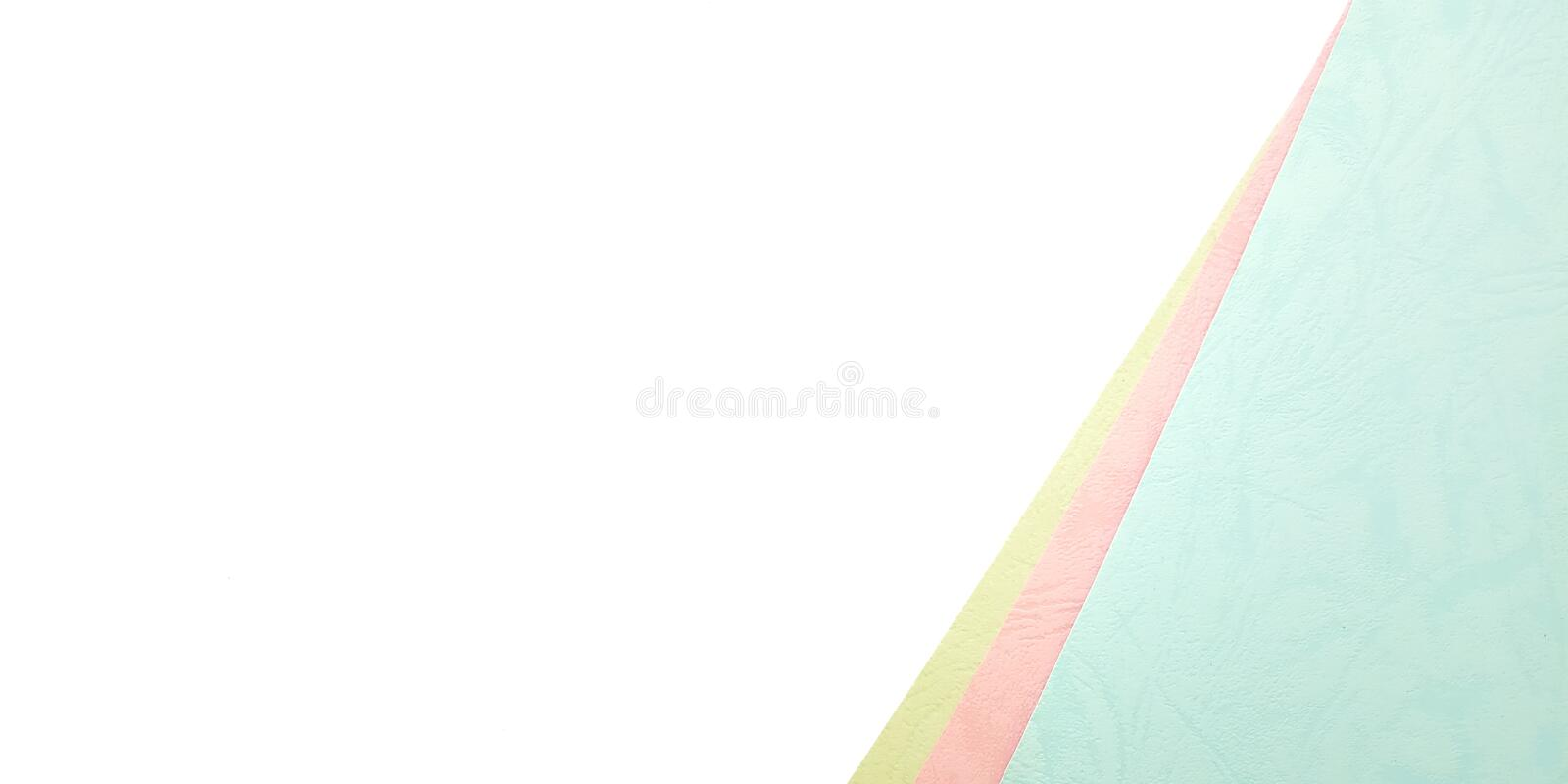Flat Lay, White Pink Blue Photo Blank Template for Background Element Design for message, quote, information text placement with. Pencil stock photo