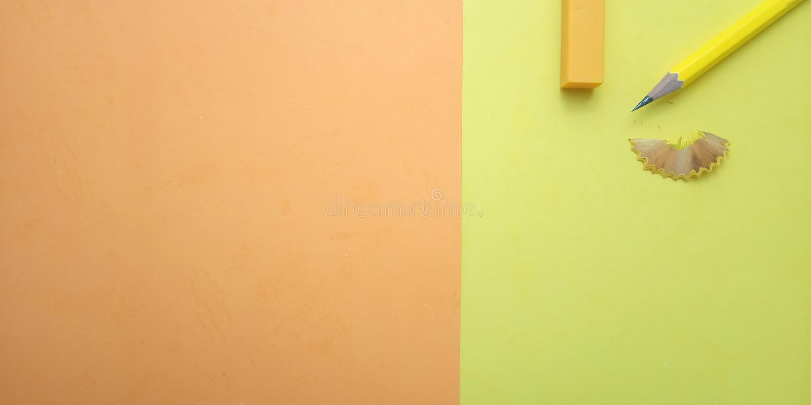 Flat Lay, Yellow and Orange Photo Blank Template for Background Element Design for message, quote, information text placement. Yellow and Orange Photo Blank royalty free stock photography