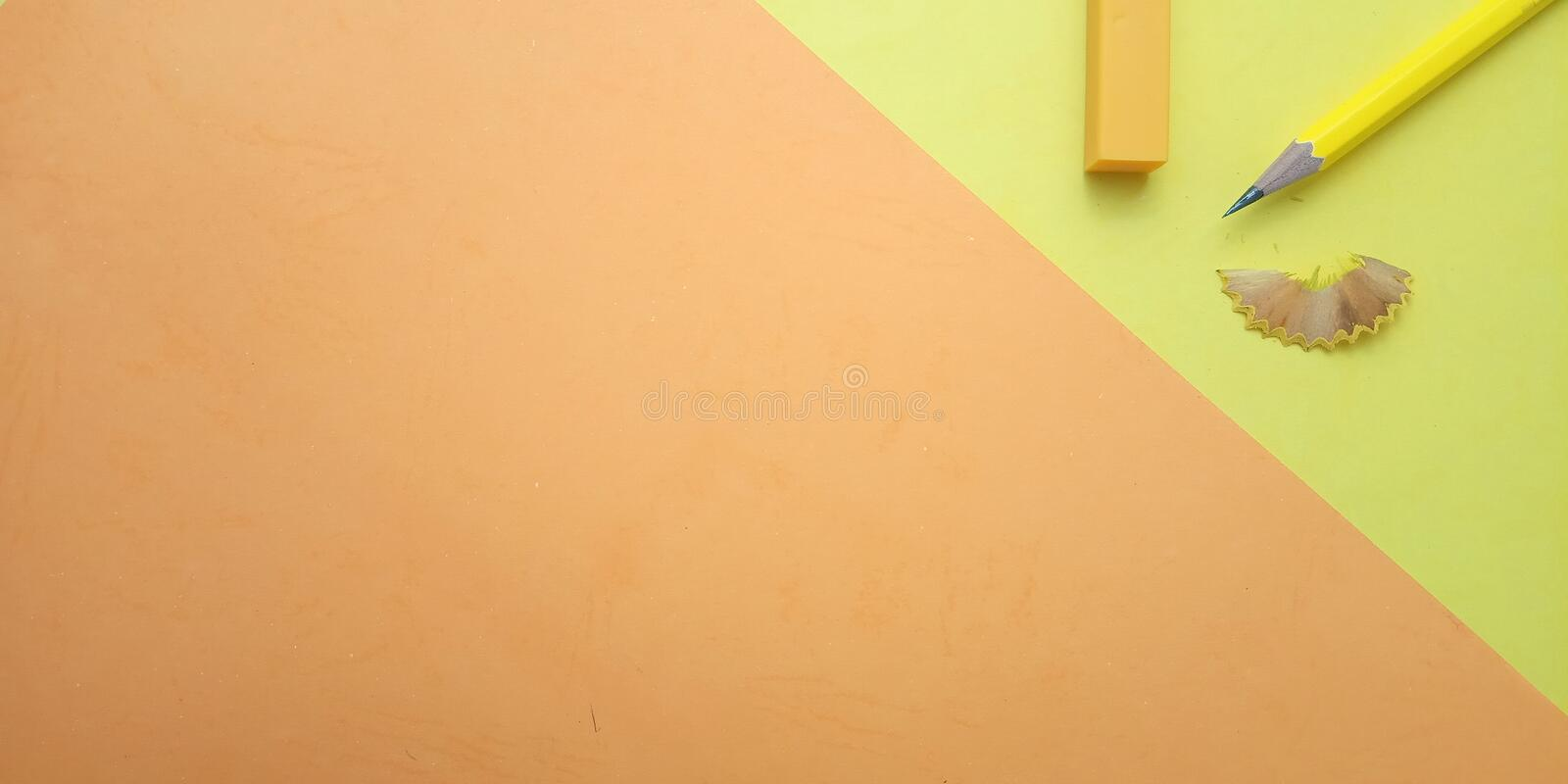 Flat Lay, Yellow and Orange Photo Blank Template for Background Element Design for message, quote, information text placement. Yellow and Orange Photo Blank stock images