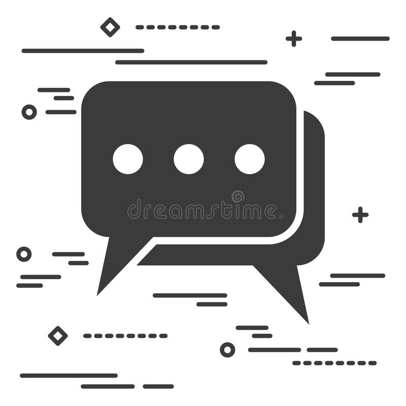 Flat Line design graphic image concept of chat icon on a white b stock illustration