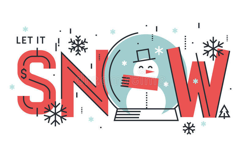 Flat line design seasons concept. Vector illustration for greeting card, website banner and marketing material vector illustration