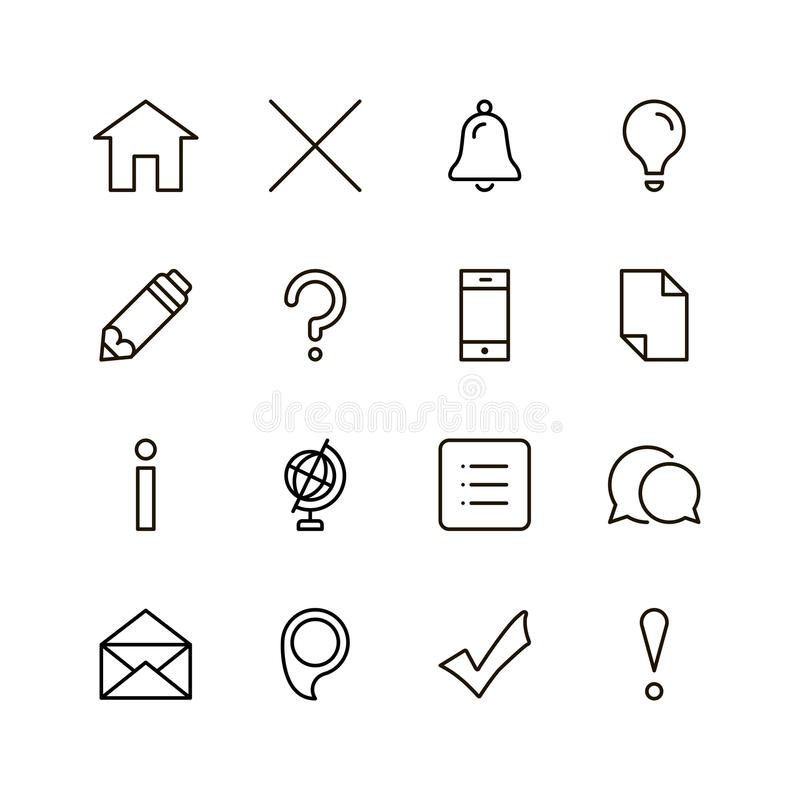Flat line icon stock photography