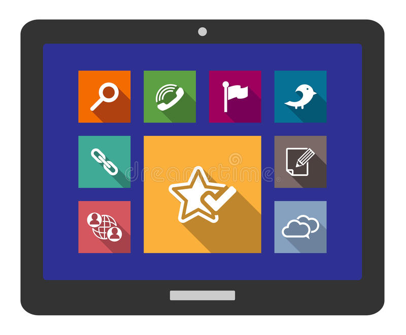 Flat media and multimedia icons vector illustration