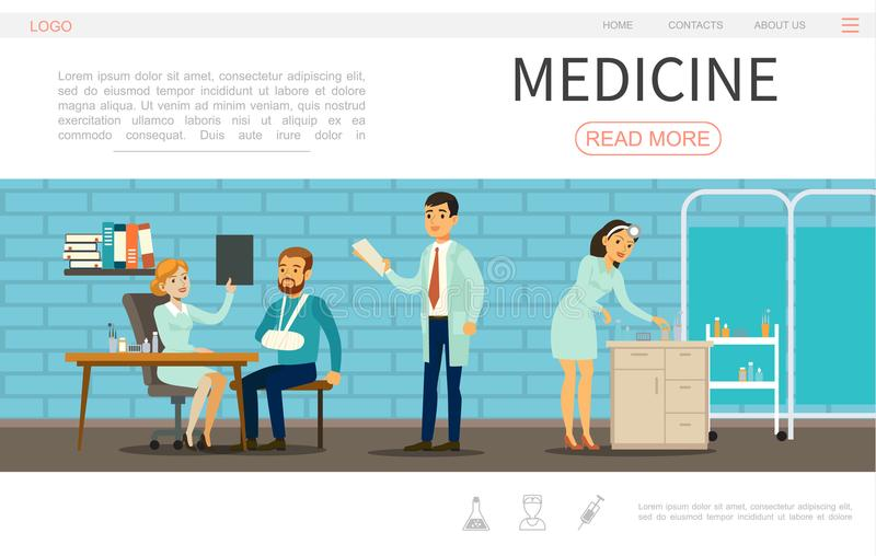 flat medical care webpage template stock vector illustration of