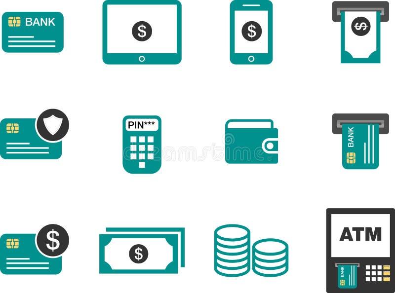 Flat minimalist Money Finance Icon stock illustration