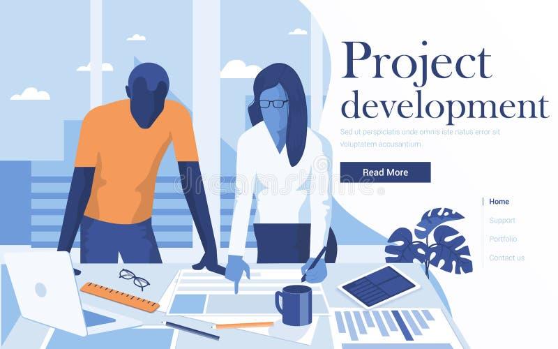 Flat Modern design Illustration of Project Development royalty free illustration