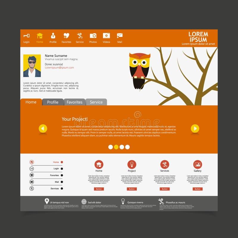 Download Flat Modern Website Template Stock Illustration - Image: 37266594