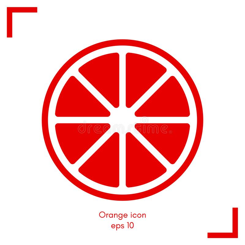 Flat Orange Simple Design Icon Vector Illustration vector illustration