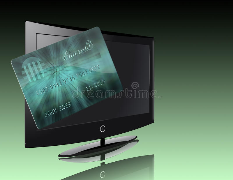 Download Flat Panel with credit stock illustration. Image of debt - 17596615