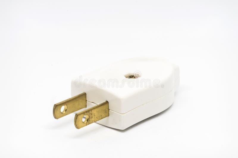 2 flat pins plug royalty free stock images