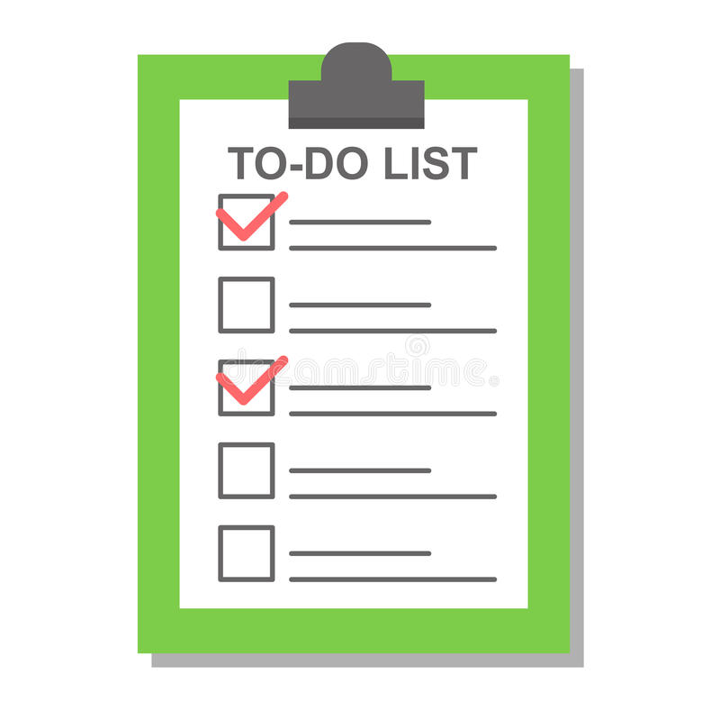 Flat plan check list icon vector illustration. royalty free illustration