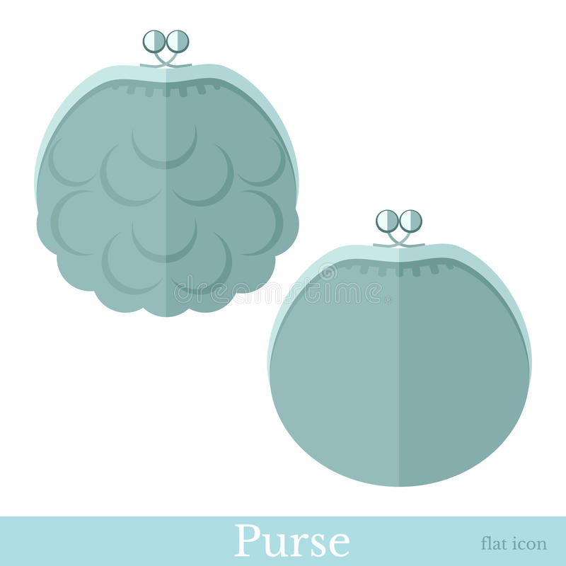 Flat purse or pouch vector illustration
