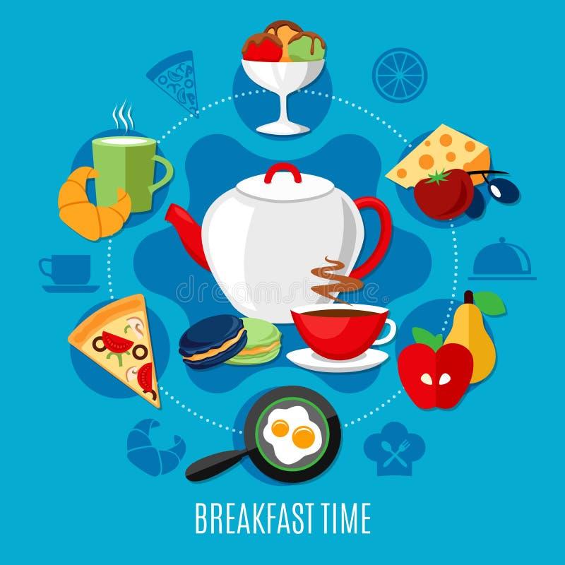 Flat Restaurant Concept stock illustration