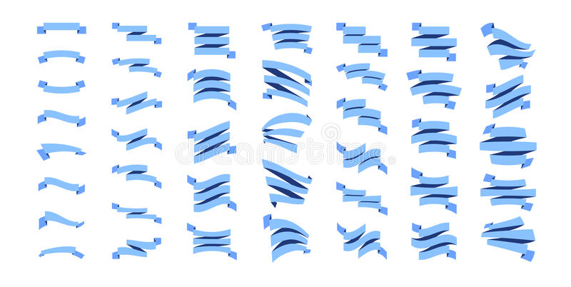 Flat Ribbons Set royalty free illustration