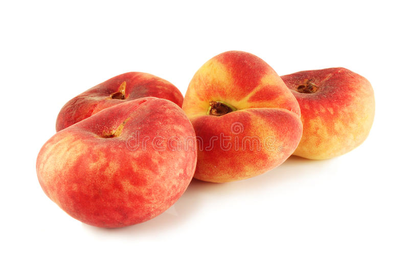 flat ripe peach Saturn stock photo