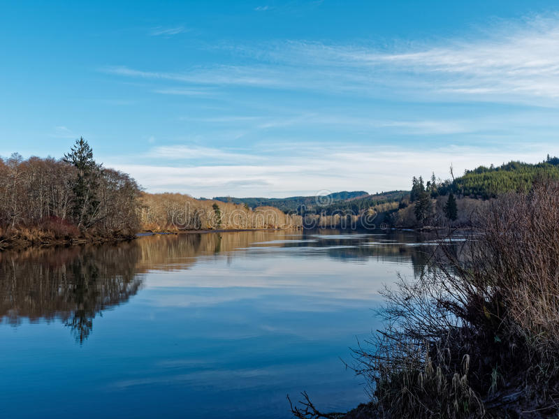 Flat River royalty free stock photos