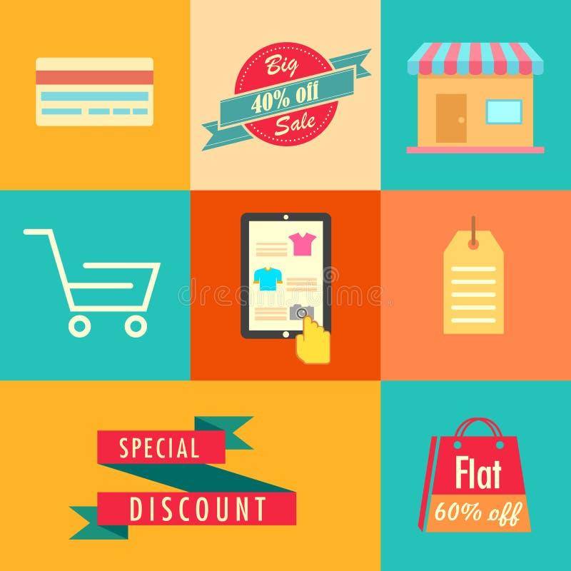 Flat Sale Banner stock illustration