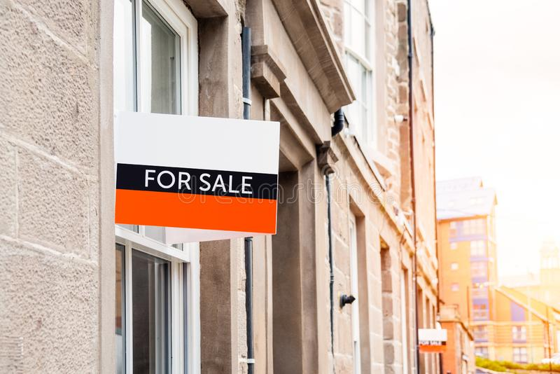 Flat on sale in a city centre stock photo