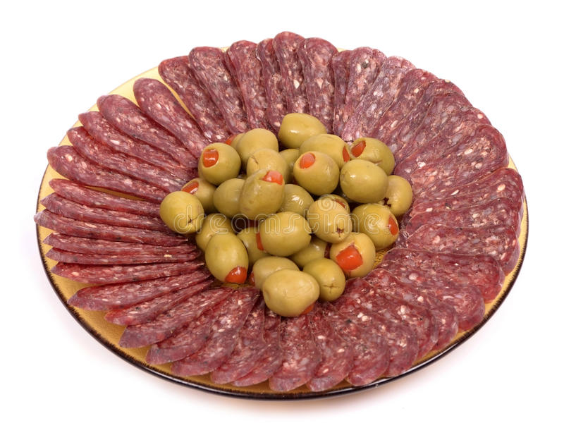 Download Flat sausage stock photo. Image of dinner, healthy, color - 28422346