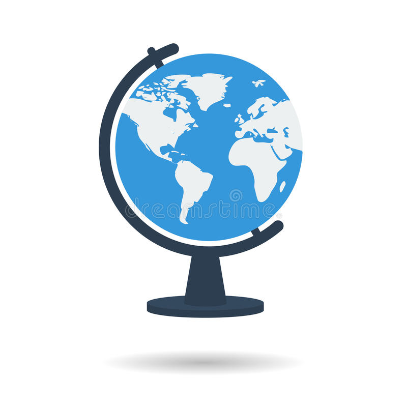 Flat school globe icon royalty free illustration