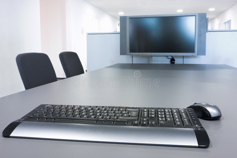 Download Flat Screen In A Board Room Stock Photo - Image: 6462932