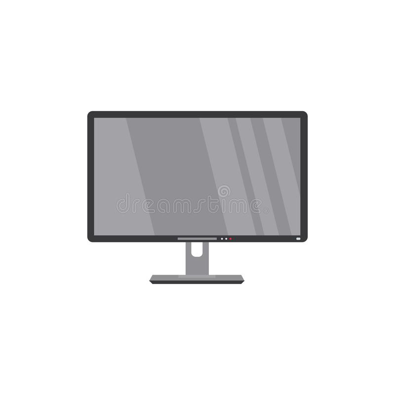 Flat screen LCD, widescreen TV, television, HDTV. Modern LCD, widescreen, TV set, television, HDTV, household appliance, flat style vector illustration isolated stock illustration