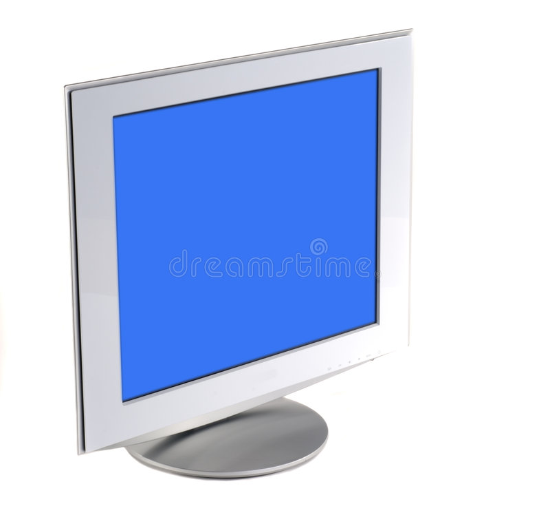 Flat Screen Monitor stock photography
