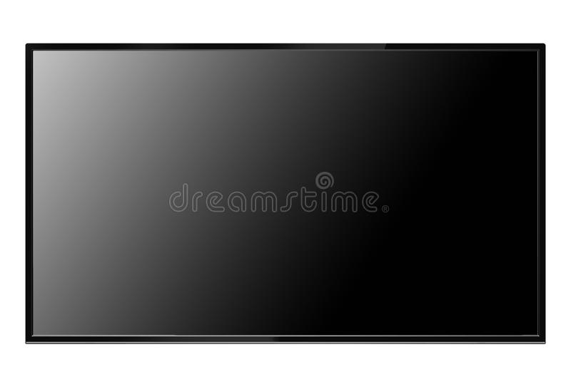Flat screen monitor. Isolated on white background stock photos