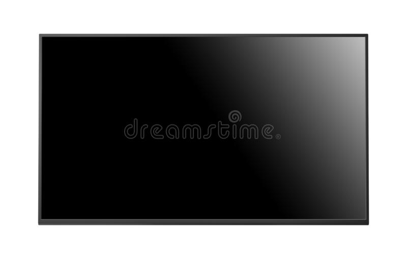 Flat screen monitor isolated. On white background royalty free stock photography