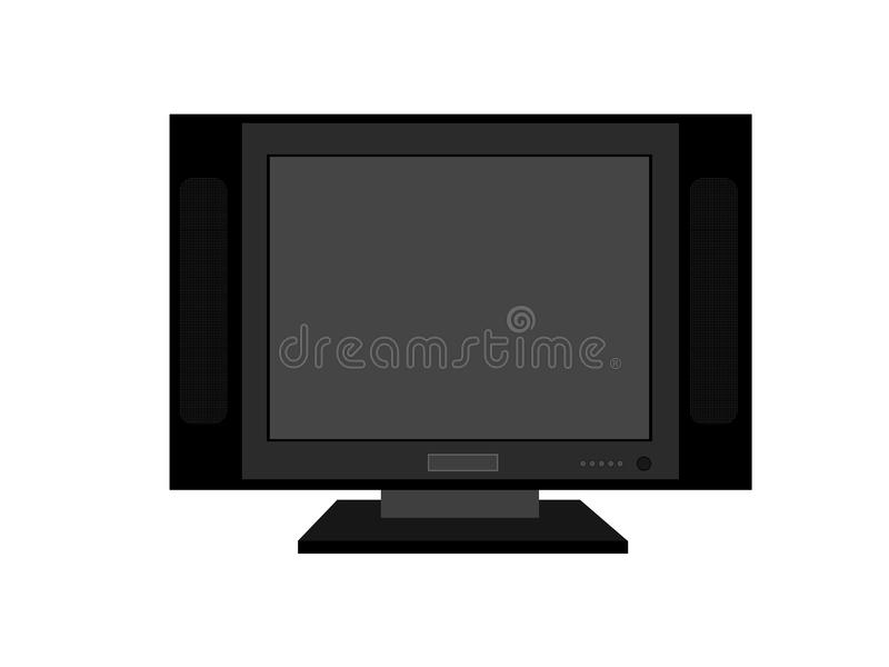 Flat screen television stock photography