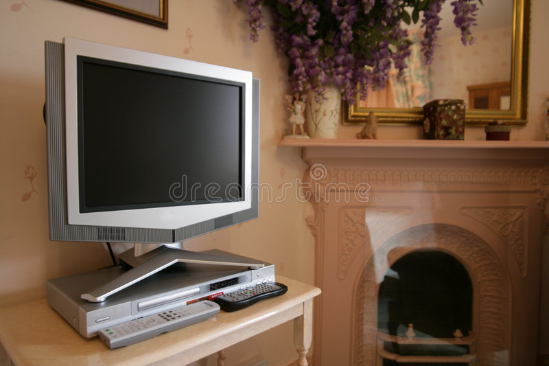 Download Flat screen tv stock photo. Image of home, traditional - 1312420
