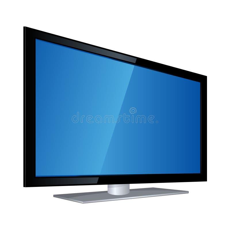 Flat Screen TV EPS. An illustration of a modern flat screen TV vector illustration