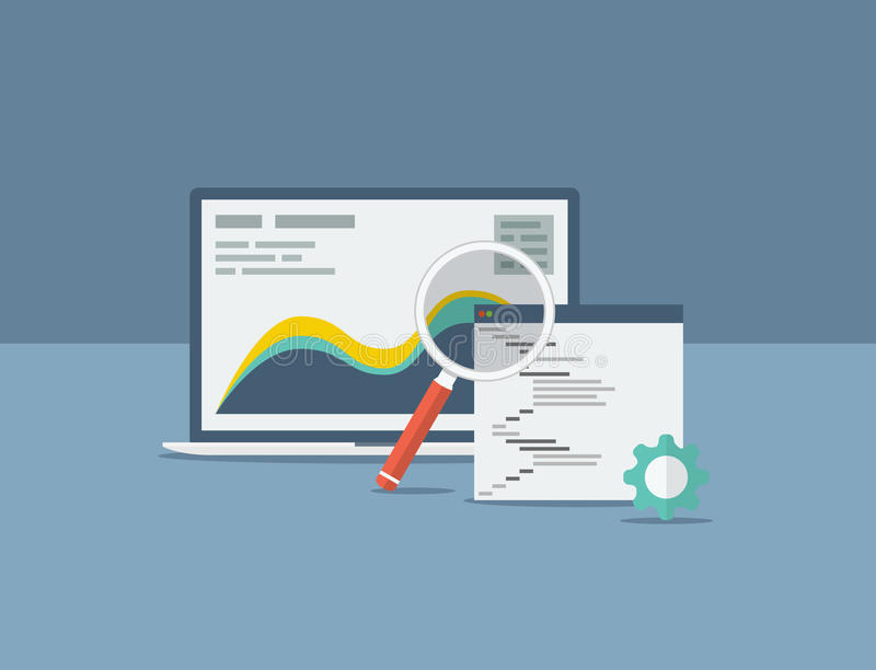 Flat search engine optimization design concept vec. Tor eps10 stock illustration