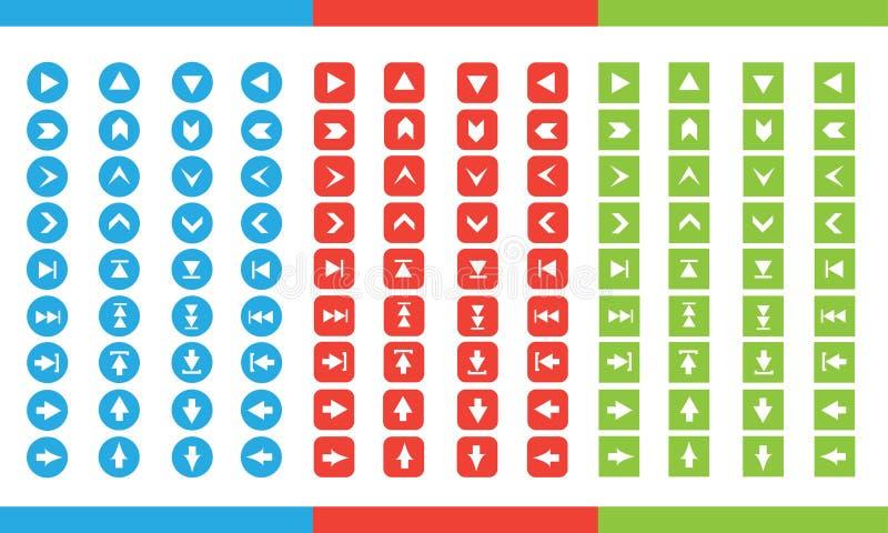 Flat set icon arrow royalty free stock photos