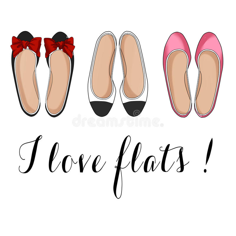 Flat shoes vector illustration