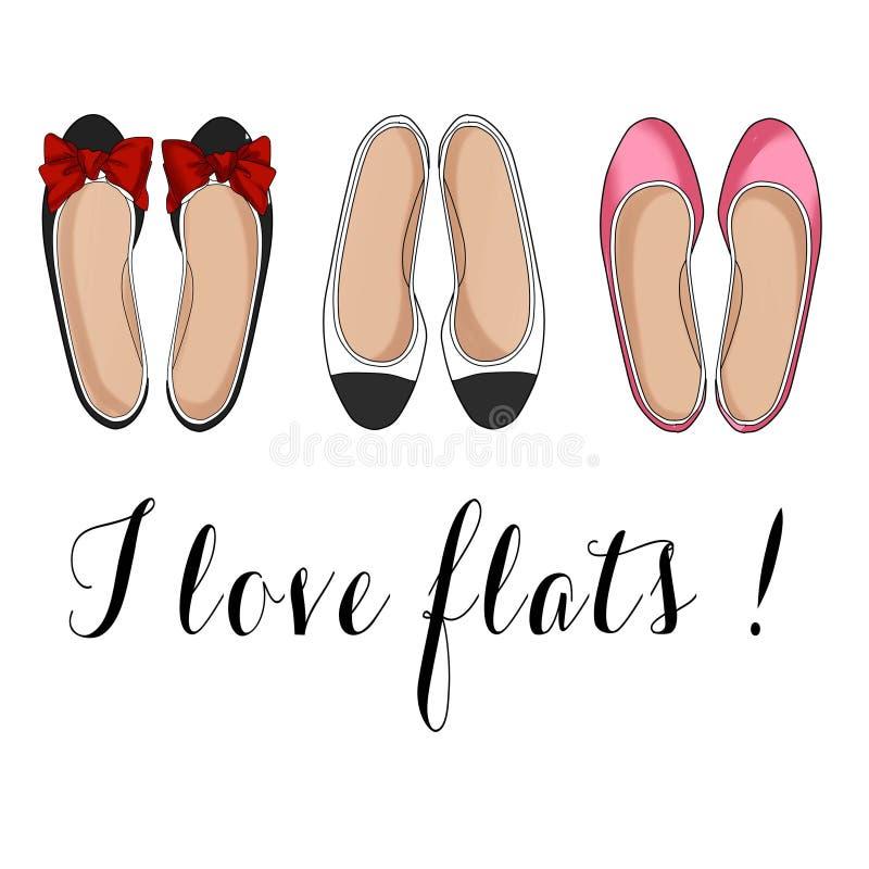Flat shoes vector illustration