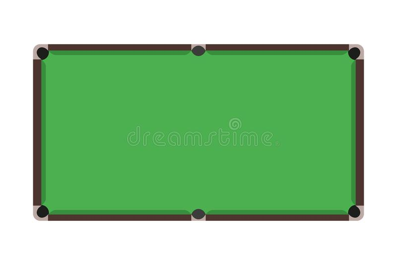 Flat Snooker table. Top view of green billiard field. Vector illustration. vector illustration