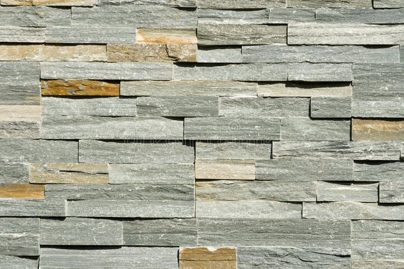 Flat Stacked Stone Wall Background Stock Photos
