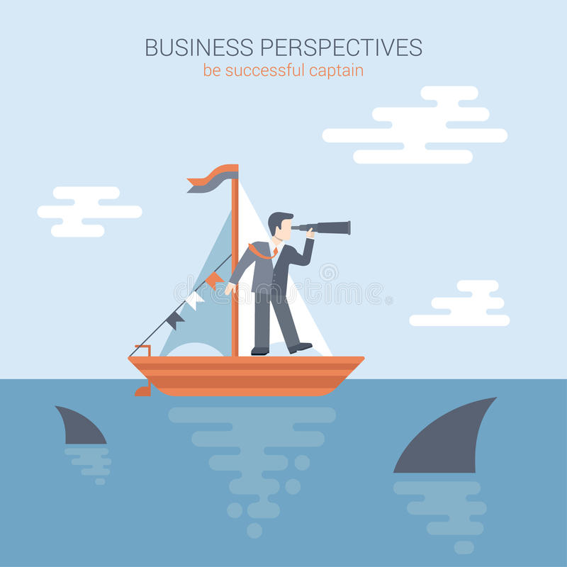 Free Flat Style Business Perspectives Web Template Concept Vector Royalty Free Stock Photography - 47417487