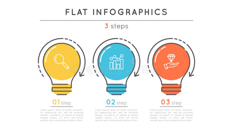 Flat Style Steps Timeline Infographic Template Stock Vector - Unique outline template for presentation concept