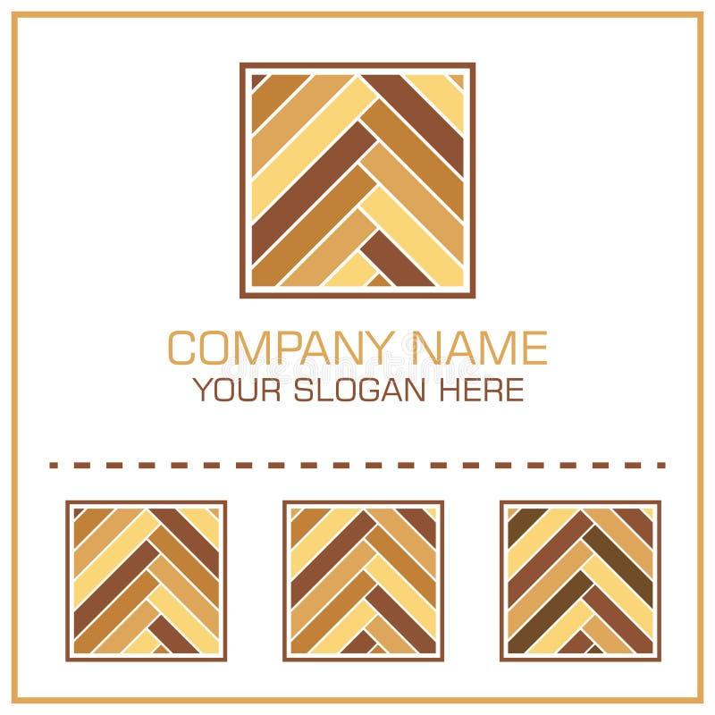 Flat Style Vector Logo Laminate / Parquet for Flooring Company royalty free illustration