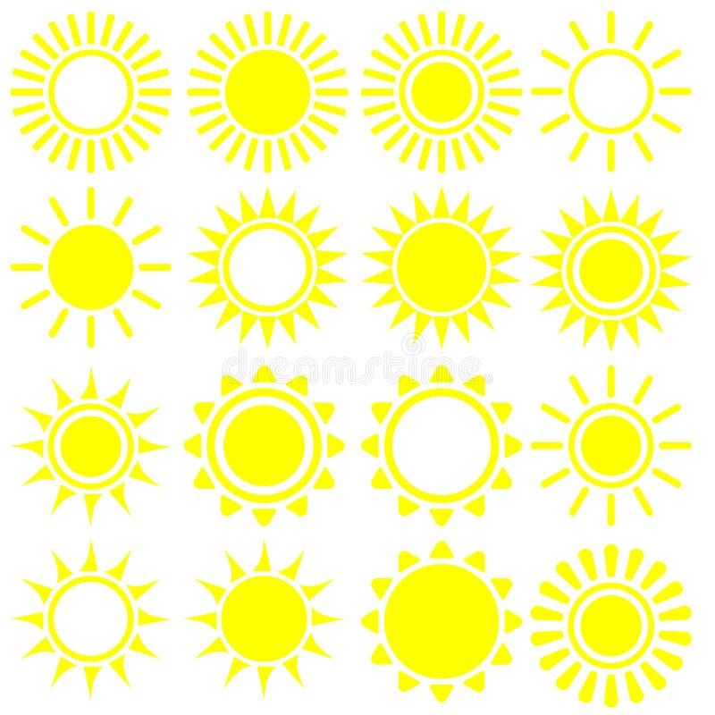 Flat sun icon. Sun pictogram. Trendy vector summer symbol for website design, web button, mobile app. Template vector illustration.  vector illustration