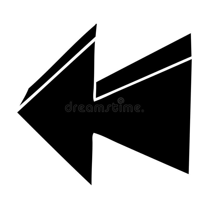 Flat symbol quirky arrow. Illustrated flat symbol quirky arrow stock illustration
