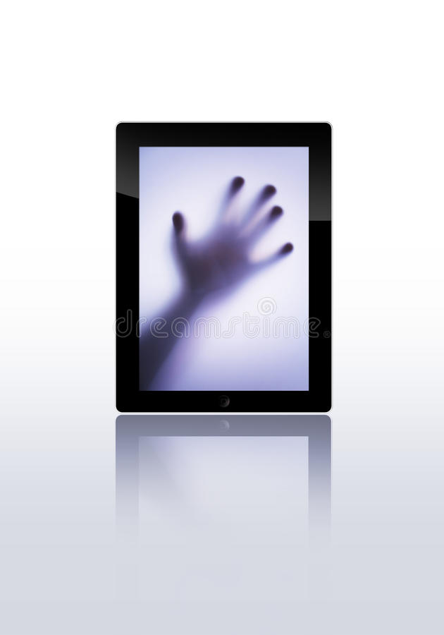 Flat Tablet Pc Stock Images