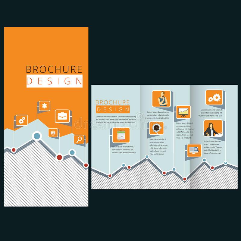 Flat template design royalty free illustration