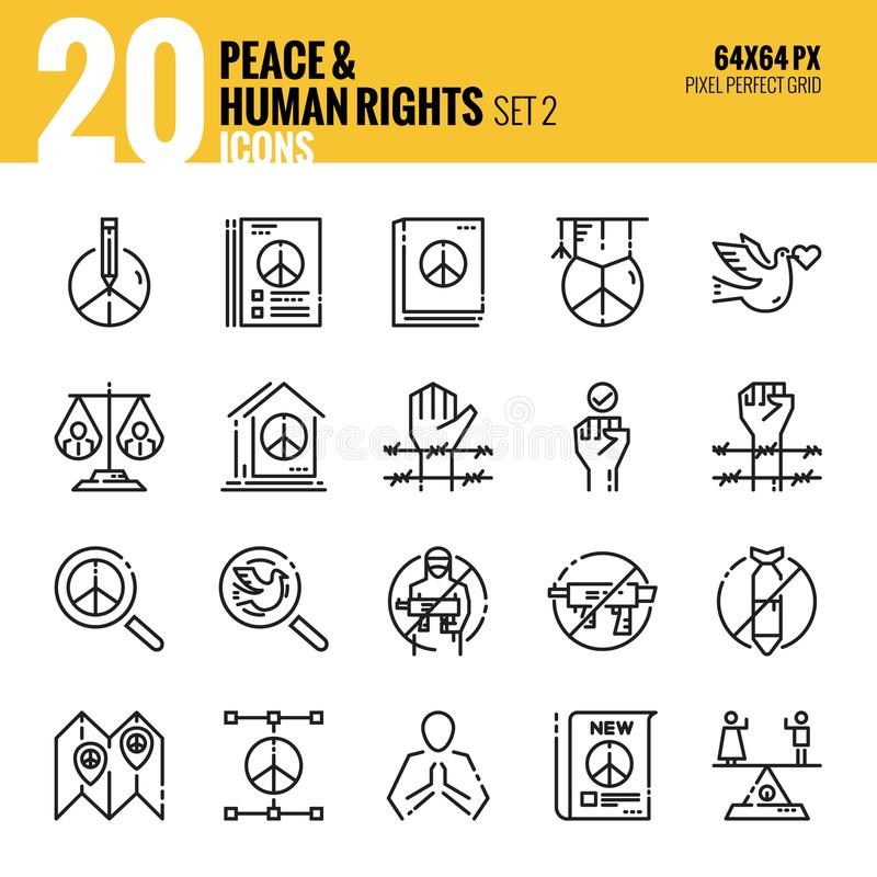 Peace and Human Rights icon set2. vector illustration