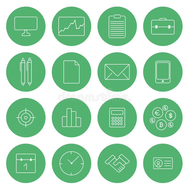 Free Flat Thin Line Icons Modern Design Vector Set Business Icons Stock Photos - 50949653